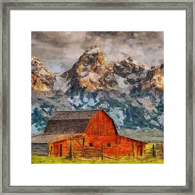 Moulton Barn Framed Print by Kai Saarto