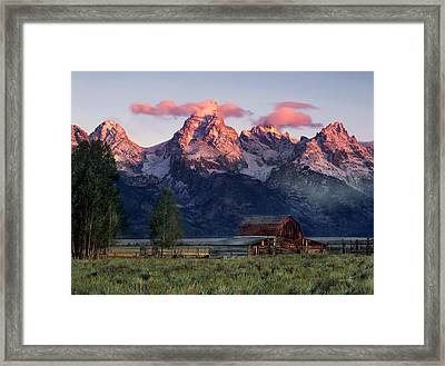 Moulton Barn Framed Print by Leland D Howard