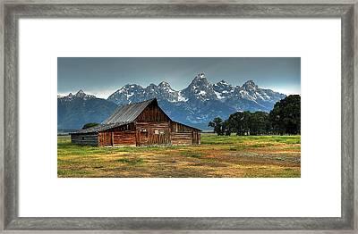 Moulton Barn Morning Framed Print