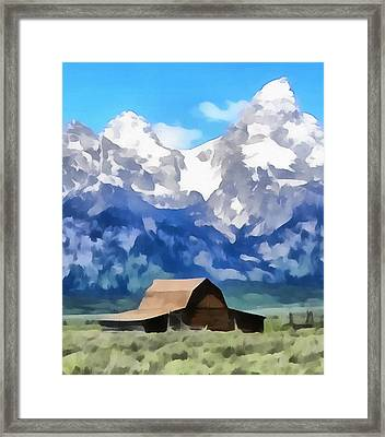 Moulton Barn Painting Framed Print