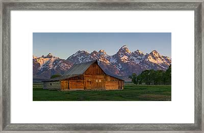 Moulton Barn Sunrise Framed Print