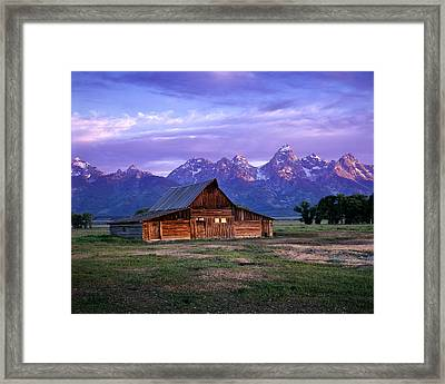 Moulton Barn Sunrise Framed Print