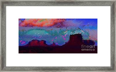 Framed Print featuring the photograph Moument Valley 2 by Julie Lueders