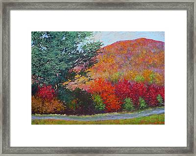Moungtains In September Framed Print by Julia Lesnichy