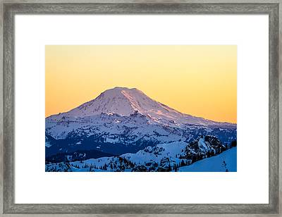 Mount Adams Sunset Framed Print