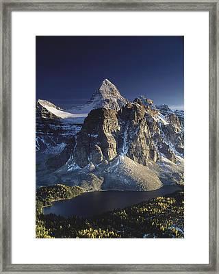 Mount Assiniboine And Sunburst Lake Framed Print by Richard Berry