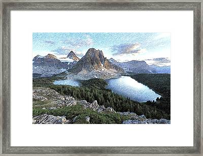 Mount Assiniboine In Pencil Framed Print