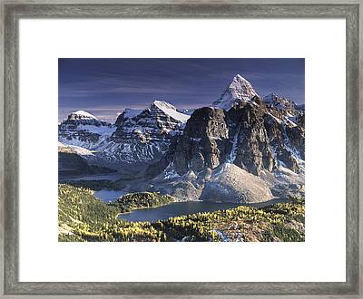 Mount Assiniboine In The Fall Framed Print by Richard Berry