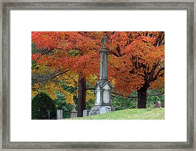 Mount Auburn Cemetery Framed Print by Juergen Roth