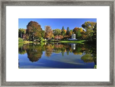 Mount Auburn Reflection Framed Print
