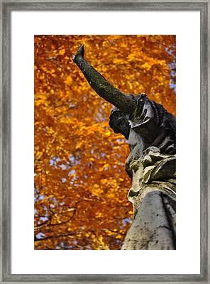 Mount Auburn Statuary Framed Print