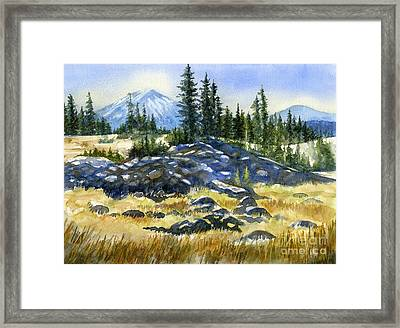 Mount Bachelor View Framed Print by Sharon Freeman