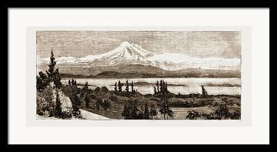 Baker Island Drawings Framed Prints