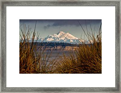 Mount Baker From Port Townsend Framed Print