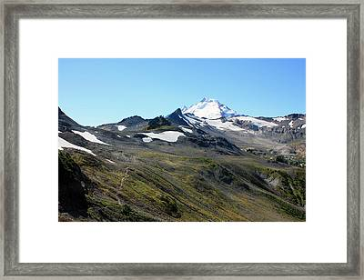 Mount Baker Framed Print by Gerry Bates