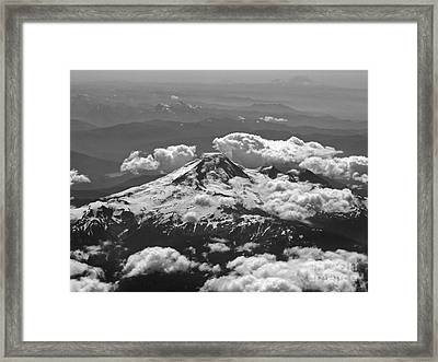 Framed Print featuring the photograph Mount Baker by Inge Riis McDonald