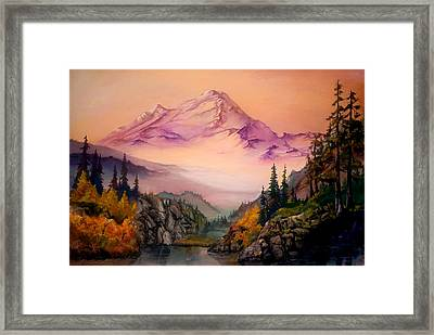 Mount Baker Morning Framed Print