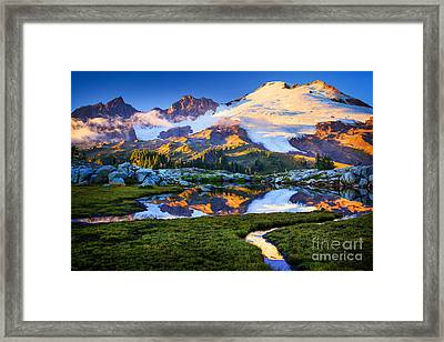 Mount Baker Reflection Framed Print