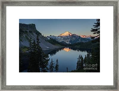 Mount Baker Sunrise Reflection Serenity Framed Print