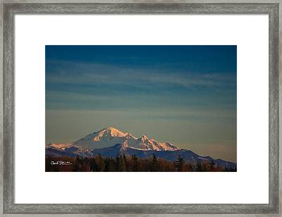 Mount Baker Sunset Framed Print by Charlie Duncan