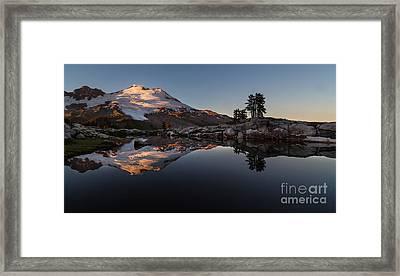 Mount Baker Sunset Glow Framed Print