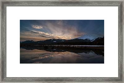 Mount Baker Sunset Framed Print by Mike Reid
