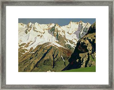 Mount Blanc Mountains Framed Print by Isaak Ilyich Levitan