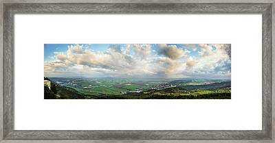 Mount Carmel And Jezreel Valley  Israel Framed Print by Reynold Mainse