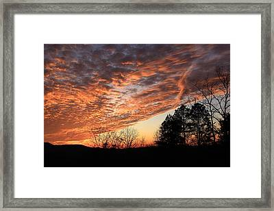 Framed Print featuring the photograph Mount Cheaha Sunset-alabama by Mountains to the Sea Photo