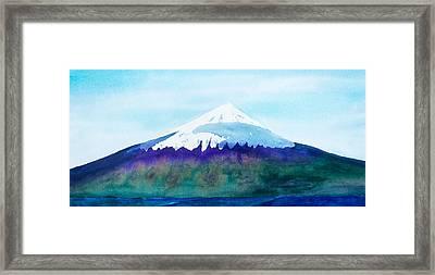 Mount Cleveland Chuginadak Framed Print by Frank Bright