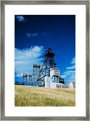 Mount Con Mine 2 Butte Mt Framed Print by Kevin Bone