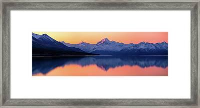 Mount Cook, New Zealand Framed Print
