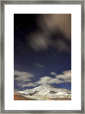 Mount Damavand At Night Framed Print by Babak Tafreshi