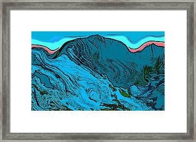 Mount Democrat - Colorado Framed Print by David G Paul