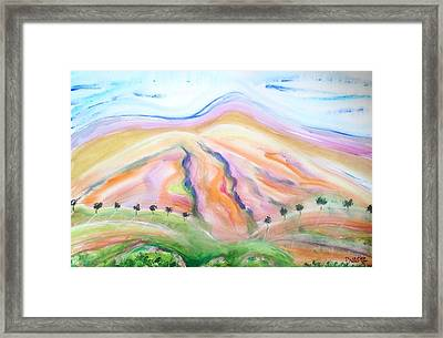 Framed Print featuring the painting Mount Diablo by Carol Duarte