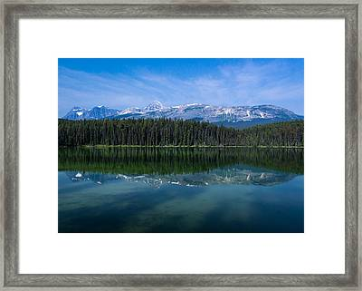 Mount Edith Cavell From Leach Lake.  Framed Print by Cale Best