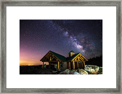Mount Evans Visitor Cabin Framed Print by Darren  White
