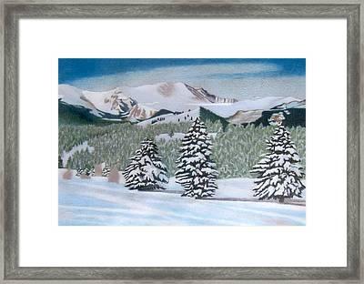 Mount Evans Winter Framed Print