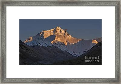Mount Everest At Dusk Framed Print by Hitendra SINKAR
