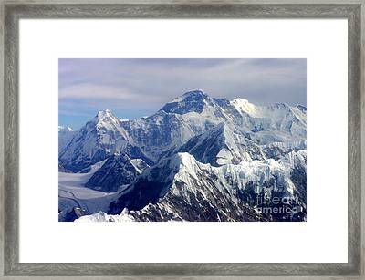 Framed Print featuring the photograph Mount Everest  by Jacqi Elmslie