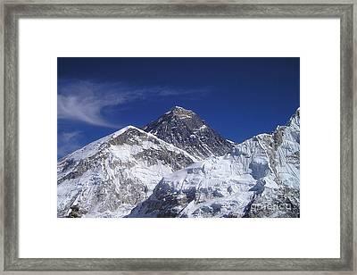 Mount Everest Framed Print by Jan Wolf