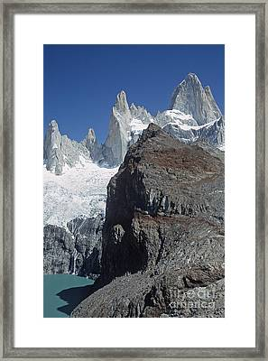 Framed Print featuring the photograph Mount Fitzroy Patagonia by Rudi Prott