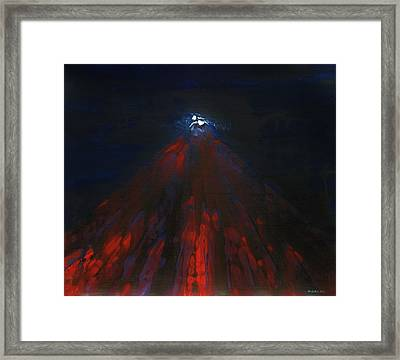 Mount Fuji By Night 2003 Framed Print