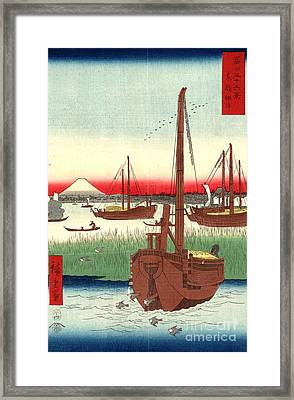 Mount Fuji From Tokyo Bay 1858 Framed Print by Padre Art