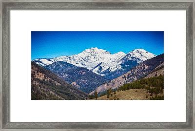 Mount Gardner Close Up Framed Print by Omaste Witkowski