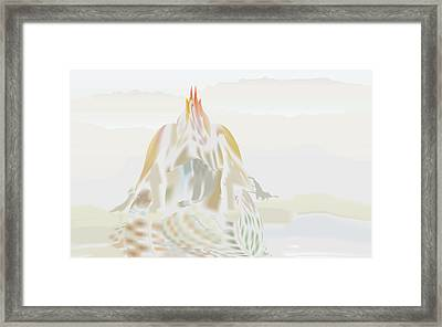 Framed Print featuring the digital art Mount Helm by Kevin McLaughlin