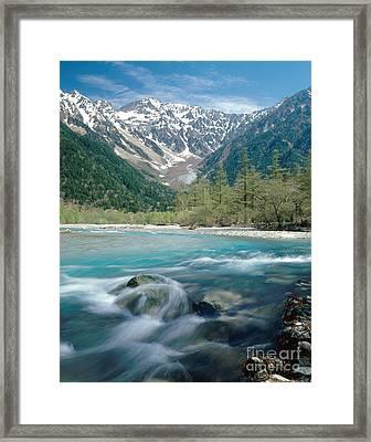 Mount Hodaka, Japan Framed Print