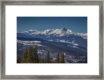 Mount Holy Cross Framed Print