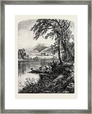 Mount Holyoke, From The Connecticut River Framed Print