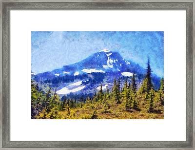 Mount Hood Blue Framed Print